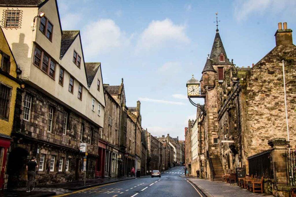 image of street in Edinburgh Scotland