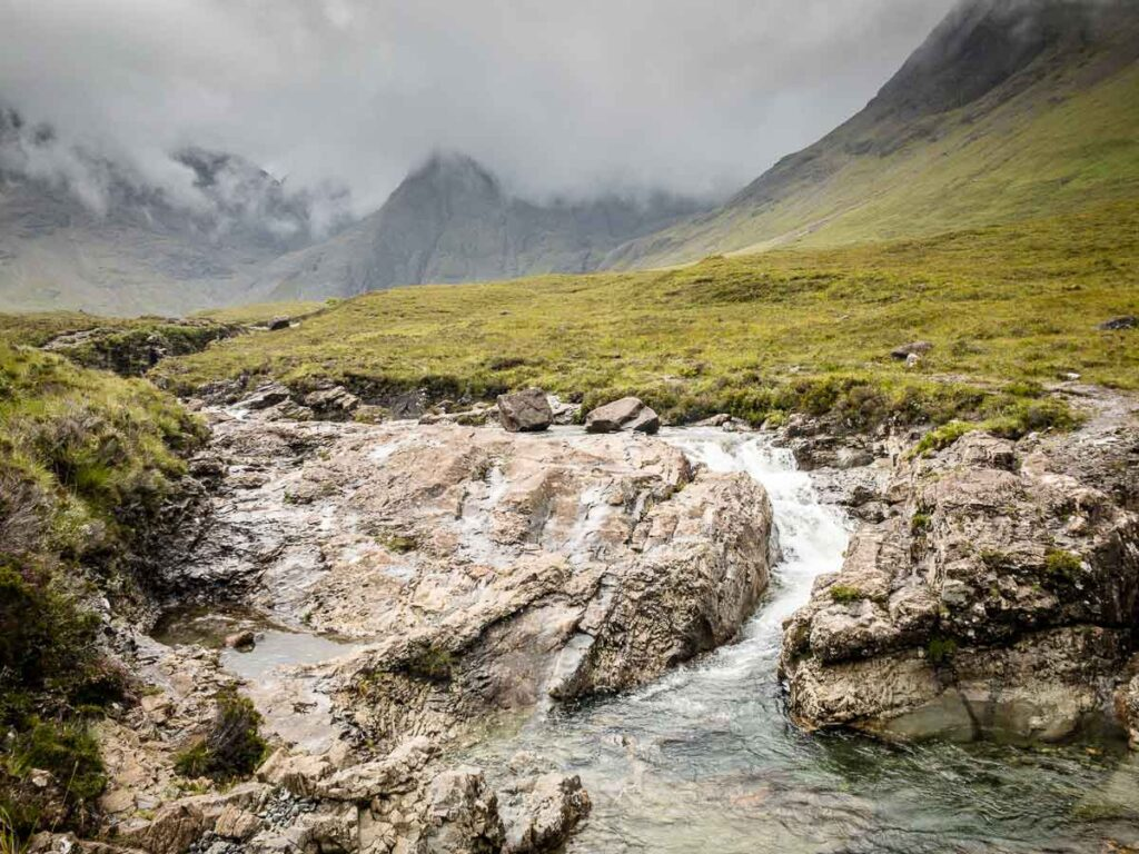 image of Fairy Pools on Isle of Skye Scotland