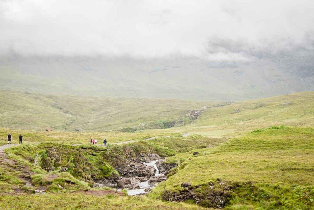 Image of hiking the fairy pools on isle of skye scotland