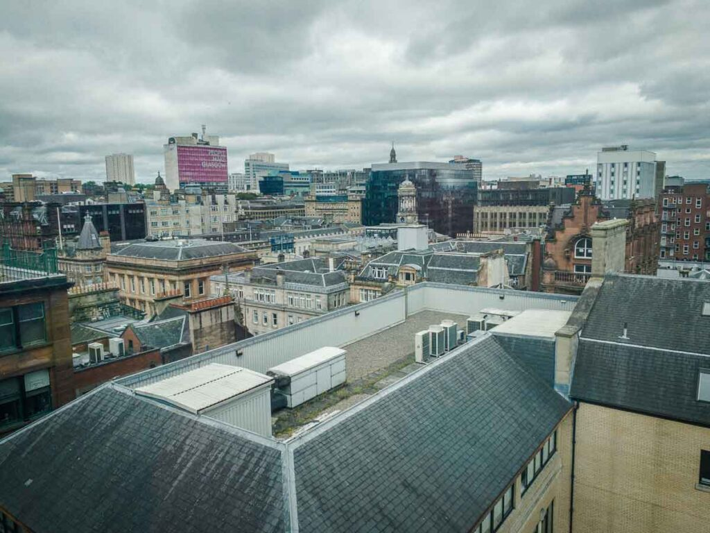 Image of view of Glasgow from Lighthouse