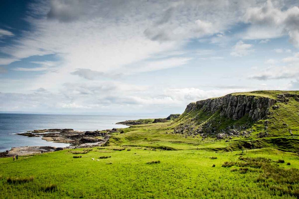 image of landscape and views on Brother's Point walk on Isle of Skye Scotland