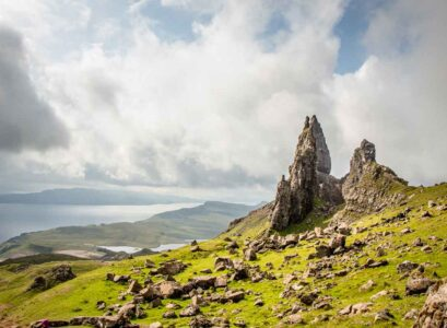 image of old man of storr on isle of skye in scotland