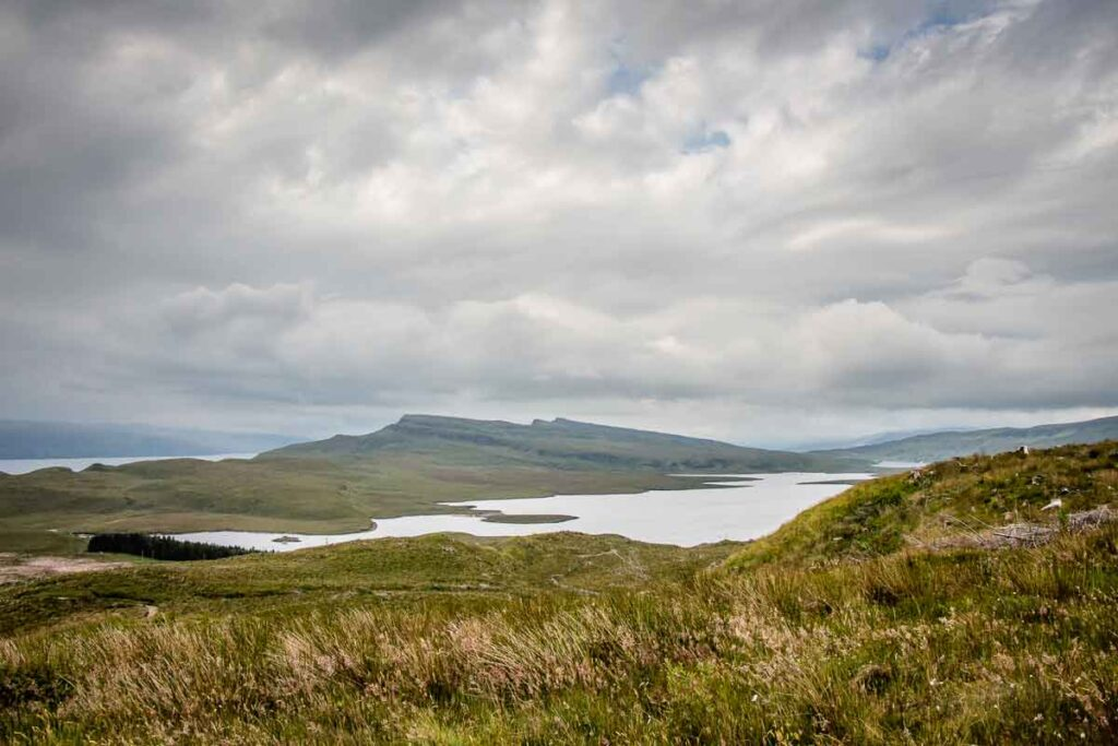 image of the view from the old man of storr walk on isle of skye scotland