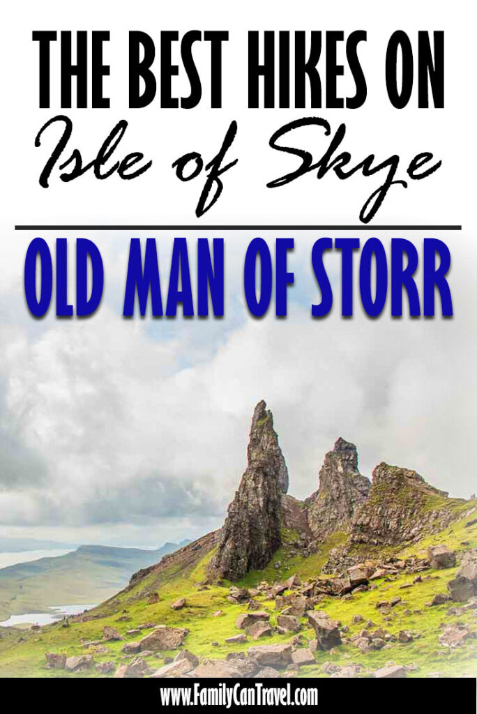 image of Old with text overlay best hikes on isle of skye - old man of storr