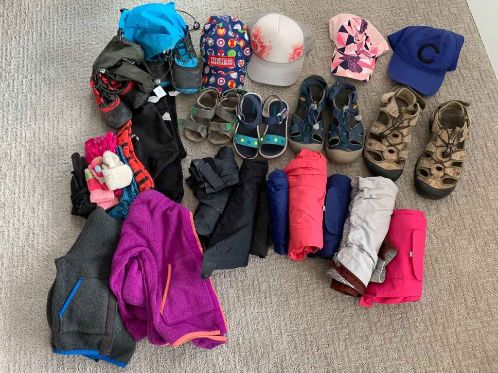 image of the what to pack for Scotland with Kids
