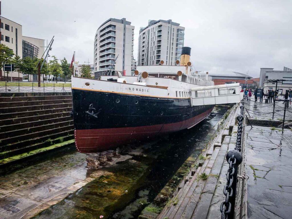 image of SS Nomadic ship in Belfast