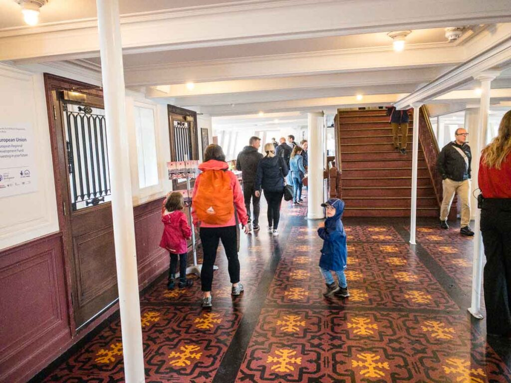image of interior of SS Nomadic ship in Belfast