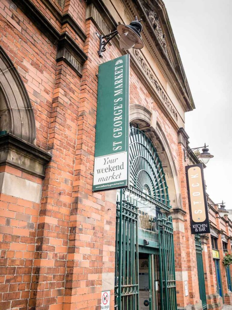 Image of the exterior of St George's Market in Belfast Northern Ireland