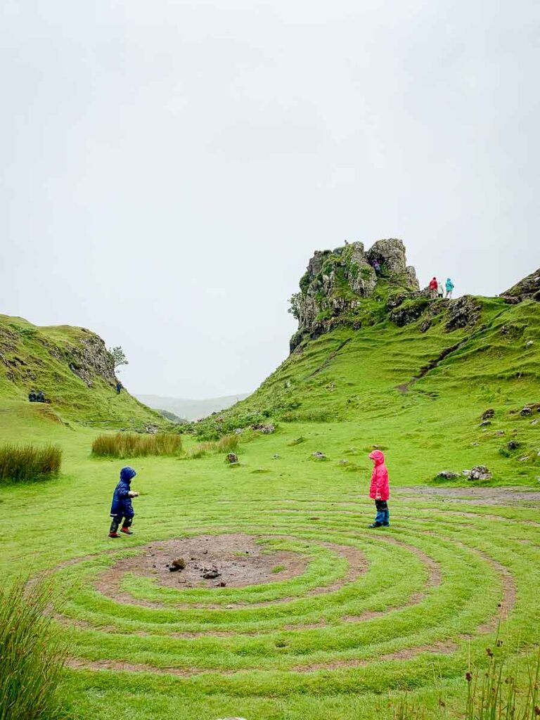 image of visiting the Fairy Glen with Kids on Isle of Skye