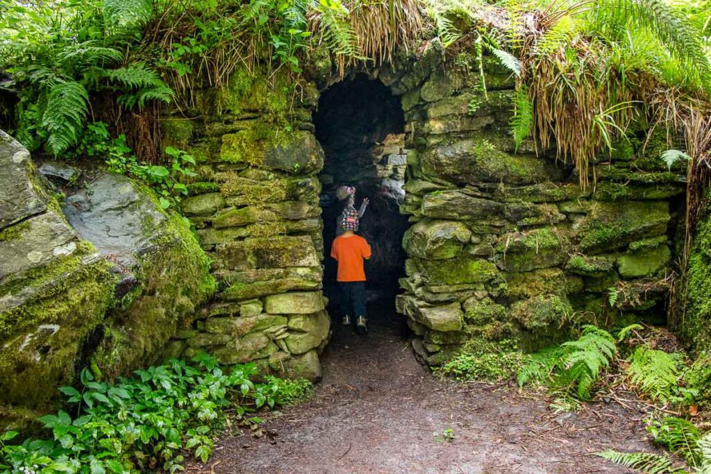 image of kids in the hermitage in Tay Forest Park Scotland