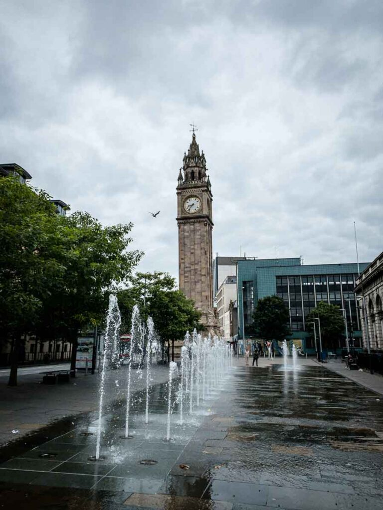 Image of Albert Memorial Clock (or the leaning clock tower) in Belfast