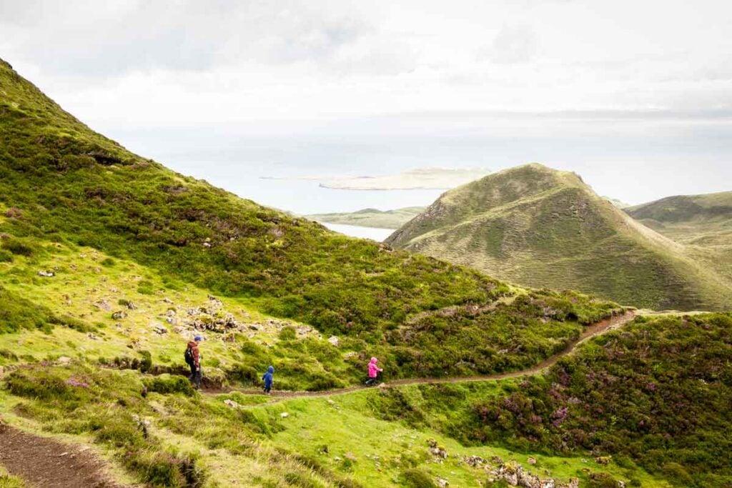 image of hiking on isle of skye with kids