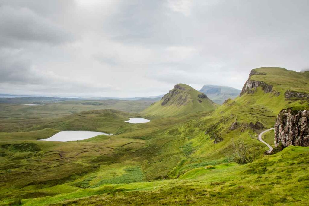 Image of views from the Quiraing hill walk on Isle of Skye