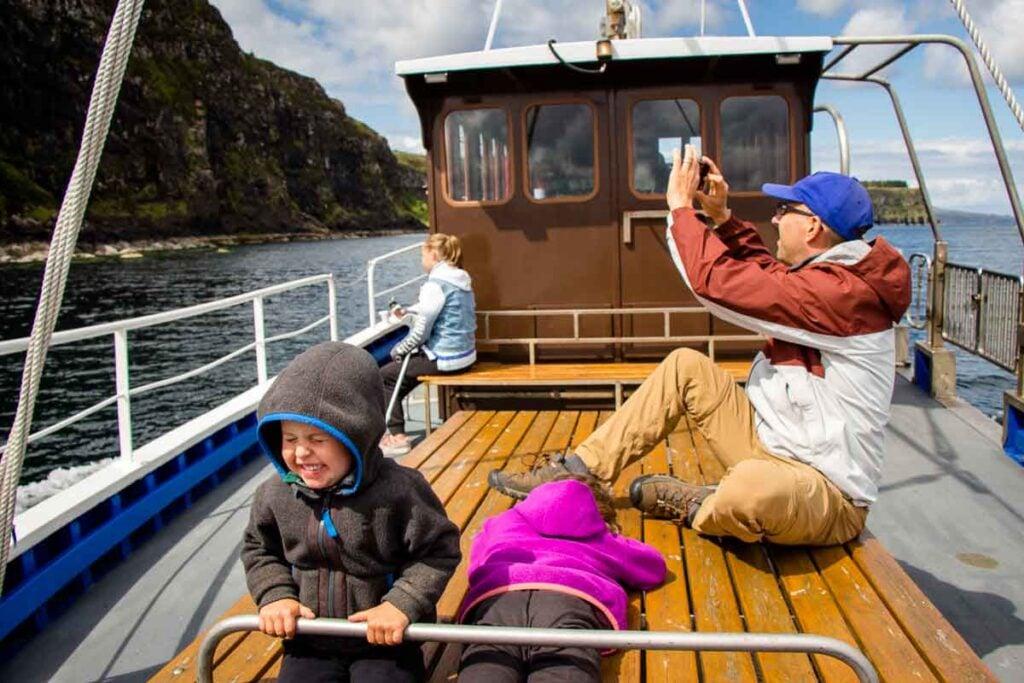 image of boat cruise on Isle of Skye
