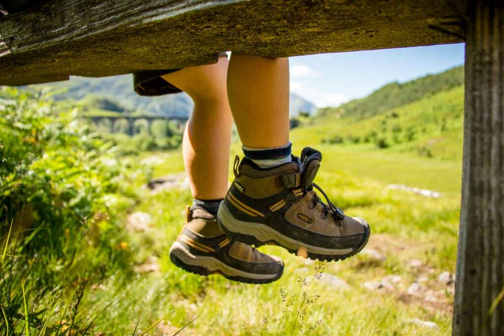 image of kids waterproof hiking boots for Scotland