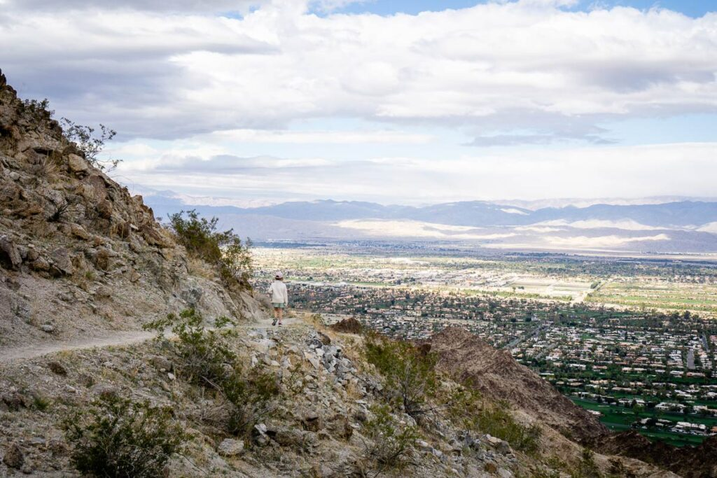 image of girl hiking Wilderness Loop Trail in Palm Springs