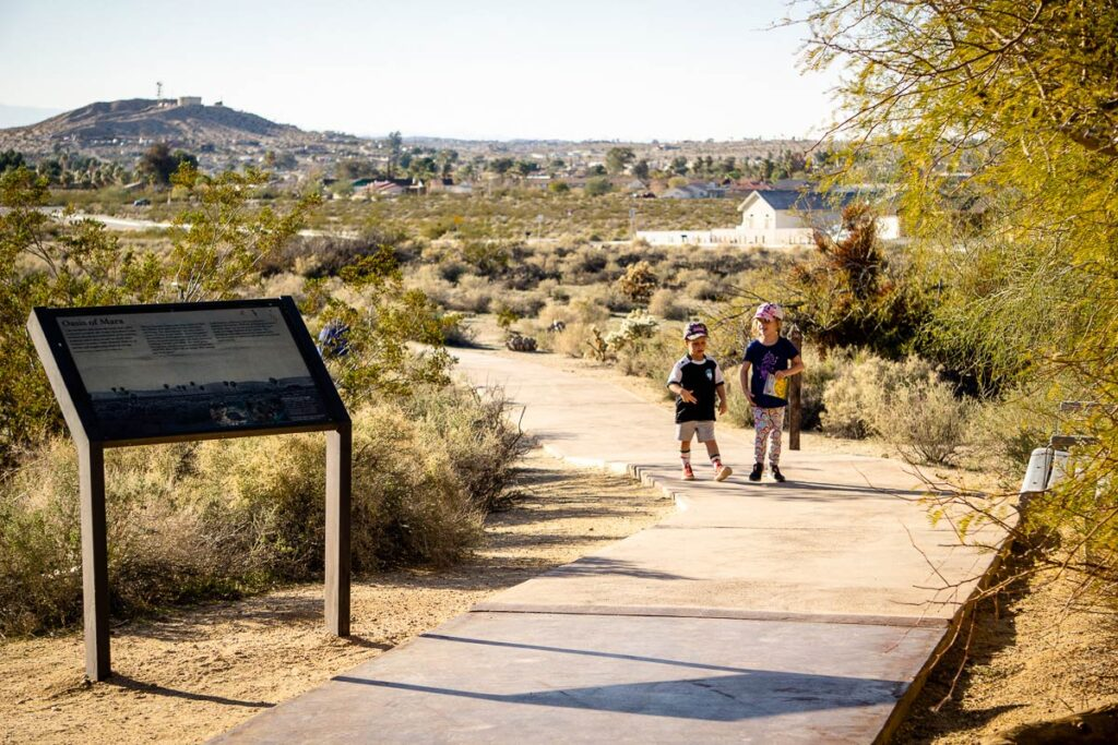 image of two kids at Oasis of Mara at Joshua Tree Visitor Centre