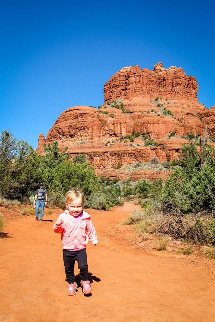 image of hiking with toddler in Sedona