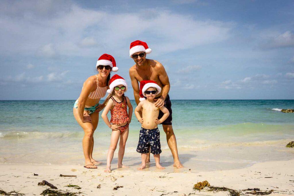 A family celebrates a Caribbean Christmas on Isla Mucura, Colombia