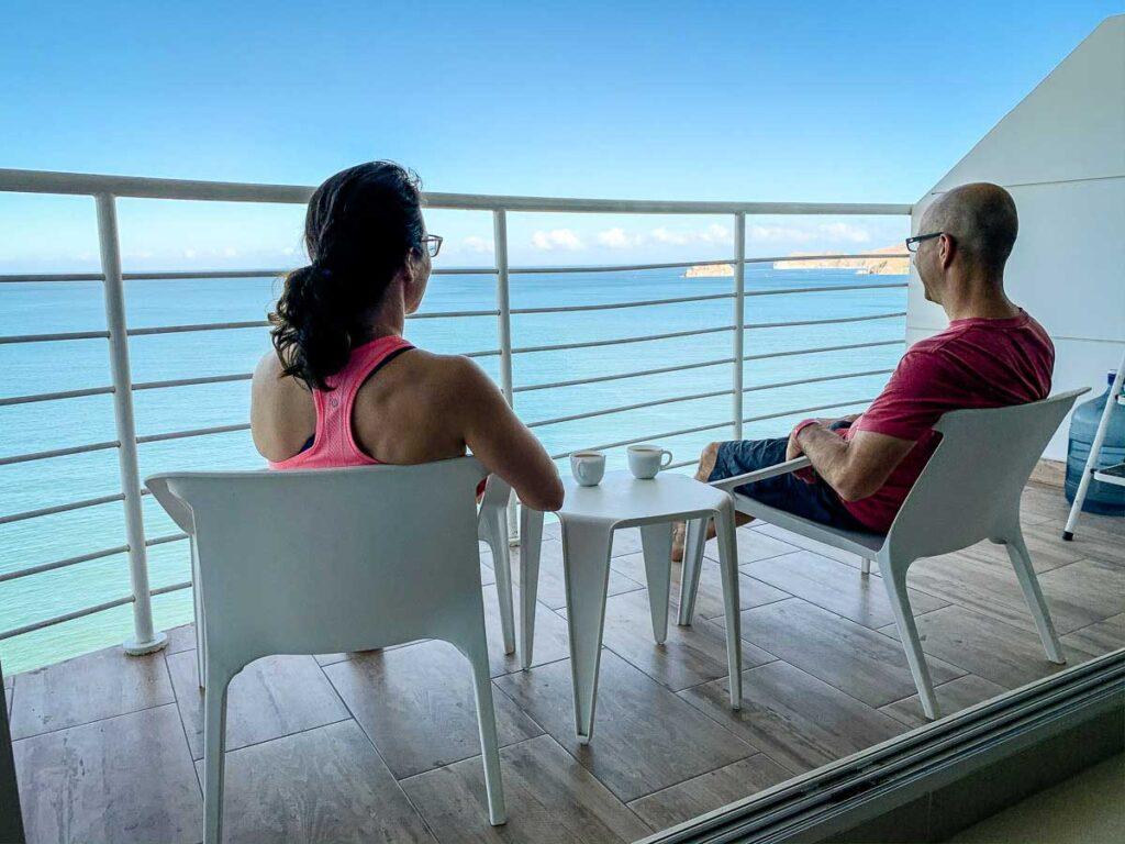 Enjoying the Caribbean views from a Rodadero Airbnb rental