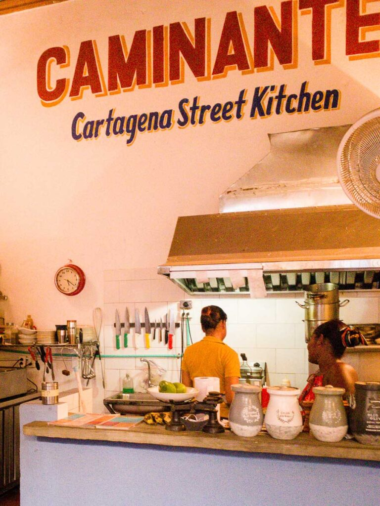 Tourist restaurants in Cartagena often accept credit cards