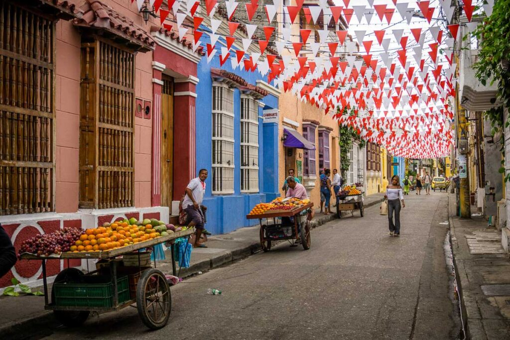 Street vendors in Getsemani, Cartagena will not accept credit cards