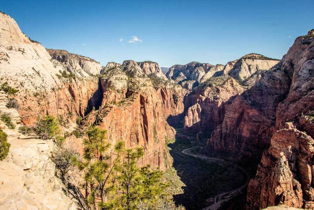 View from Angels Landing Zion HIike