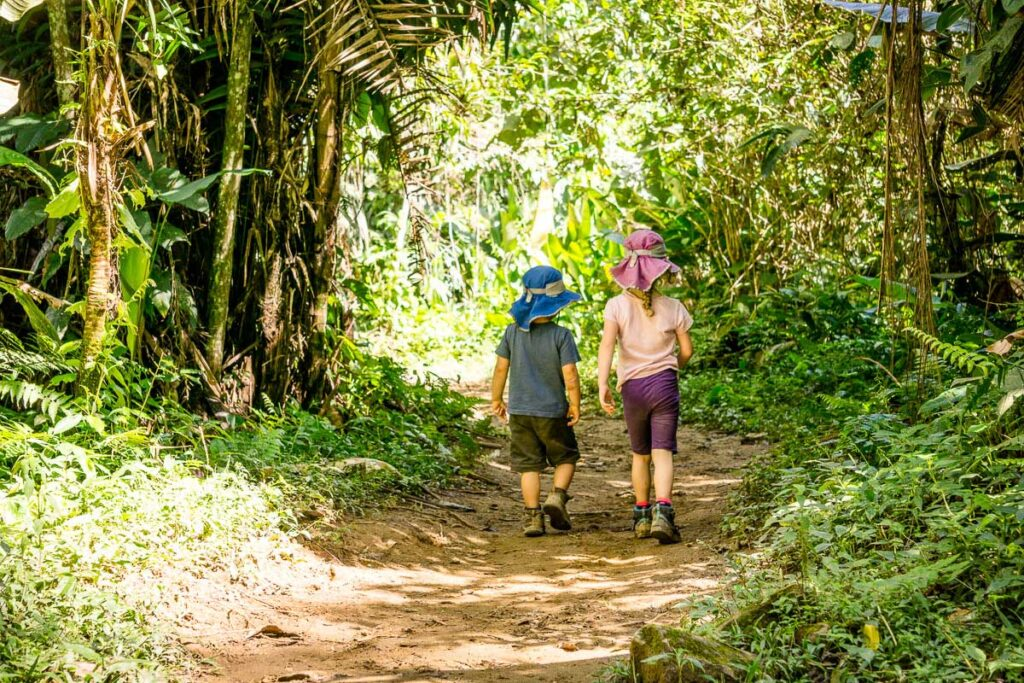 Two kids on a 6 day trek to the Lost City, Santa Marta, Colombi