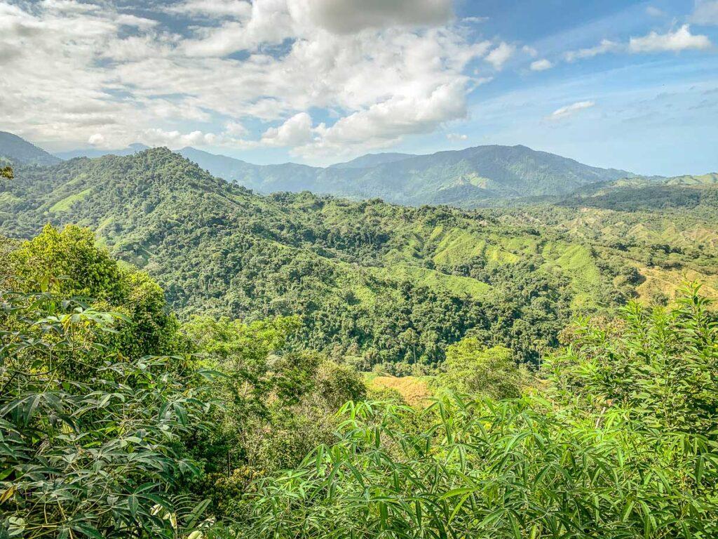 Beautiful Sierra Nevada mountains scenery, Colombia