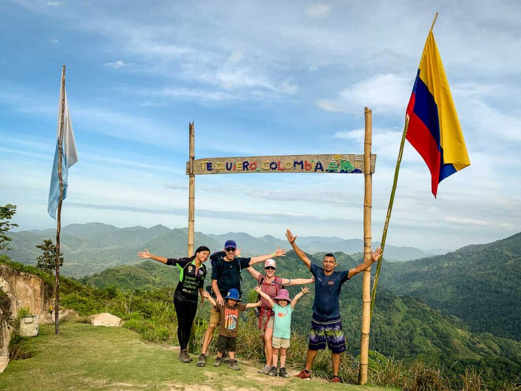 A family hikes to Ciudad Perdida with kids
