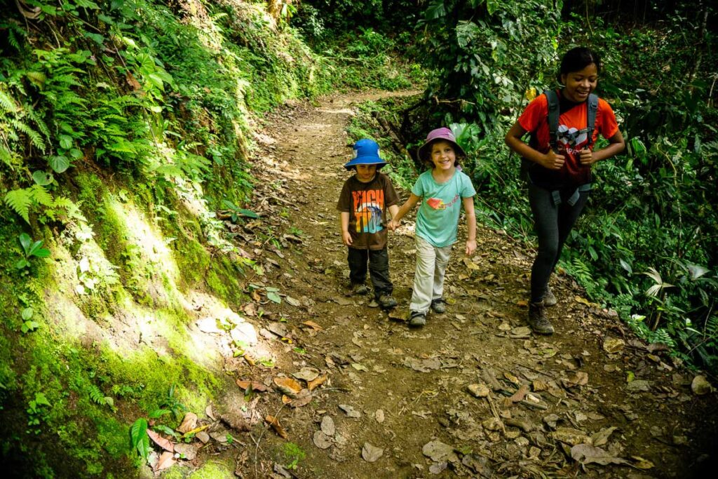 All smiles while hiking the Lost City trail Colombia