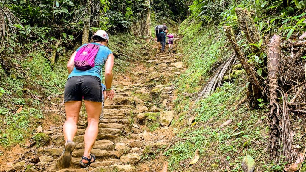 The stairs to the Lost City are steep, but it only takes about 40 minutes to get to the top