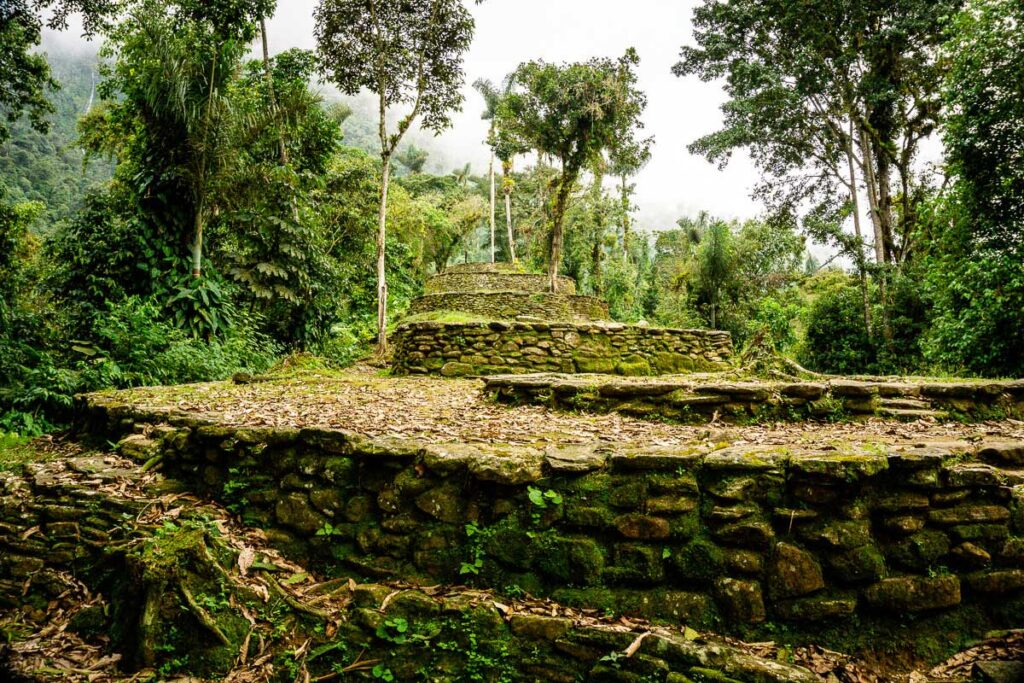 An alternate view of Ciudad Perdida Colombia
