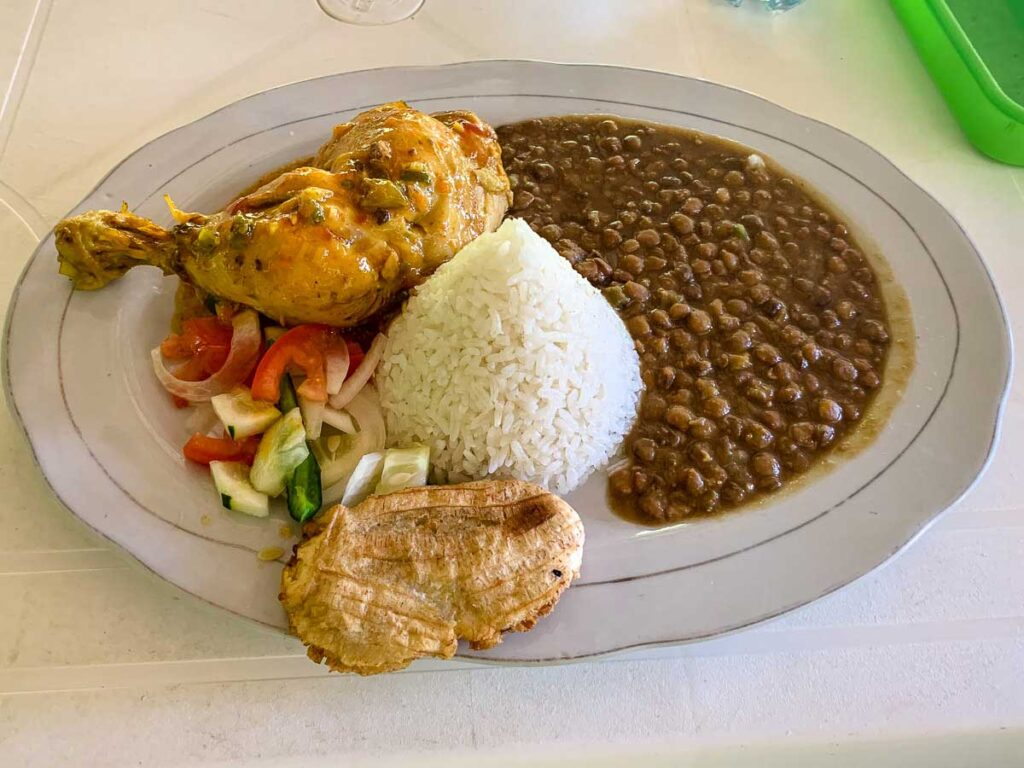 Salsa chicken was one of our favorite foods on the Lost City Trek