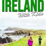 image of ireland with kids with text overlay of packing list ireland with kids