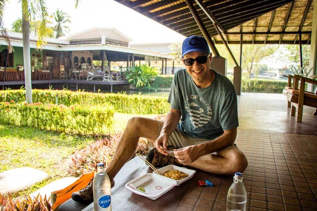 Take-out Pad Thai in Kanchanaburi, Thailand