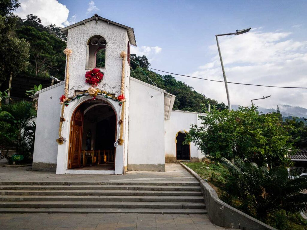 The church in Minca, Colombia