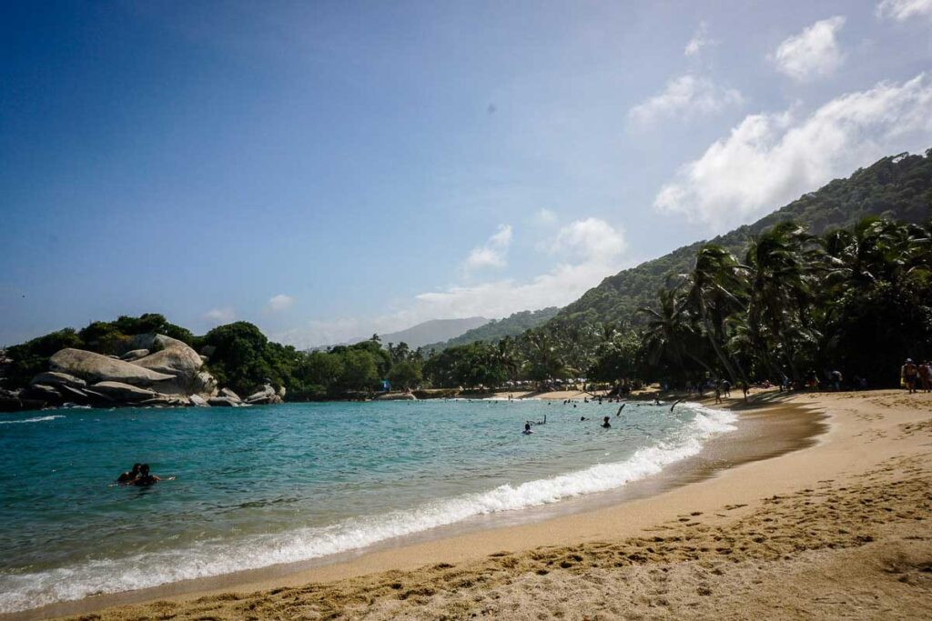 Cabo San Juan is a protected cove within Tayrona National Park, Colombia