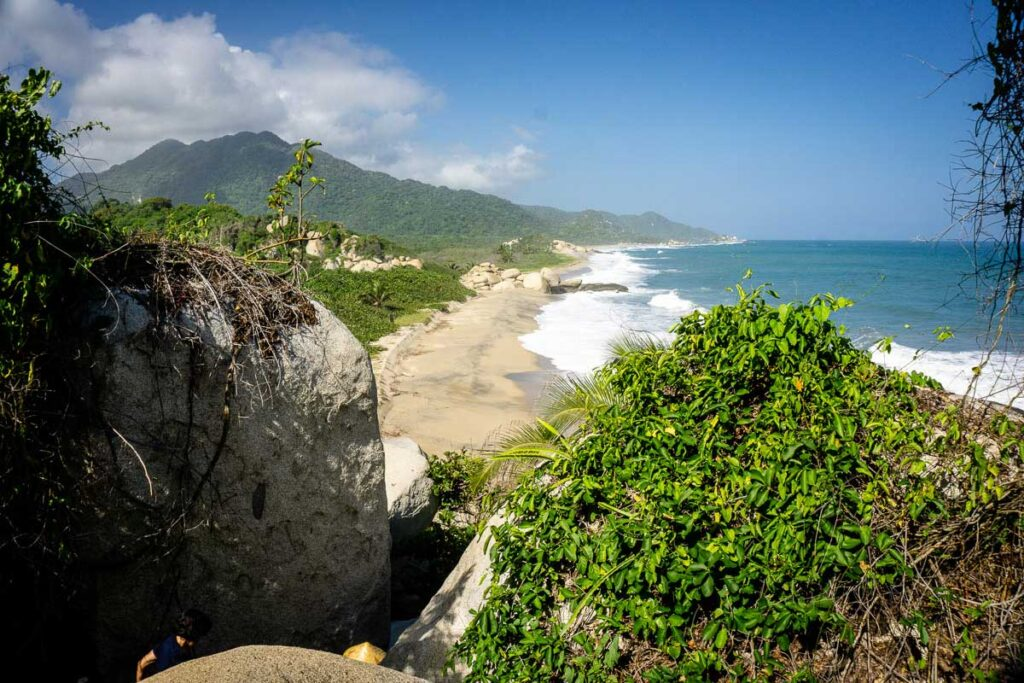We loved the Caribbean scenery while hiking to Cabo San Juan in Tayrona National Park with our kids