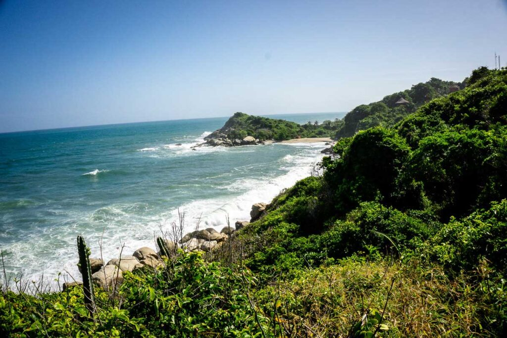 Hiking to Cabo San Juan in Tayrona National Park offers many beautiful views of Colombia's Caribbean coastline