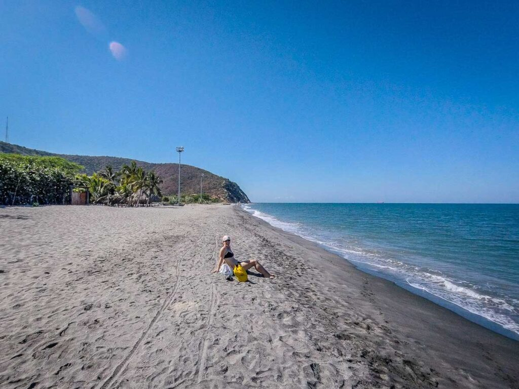 The crowds at Salguero Beach are much smaller than Rodadero Beach