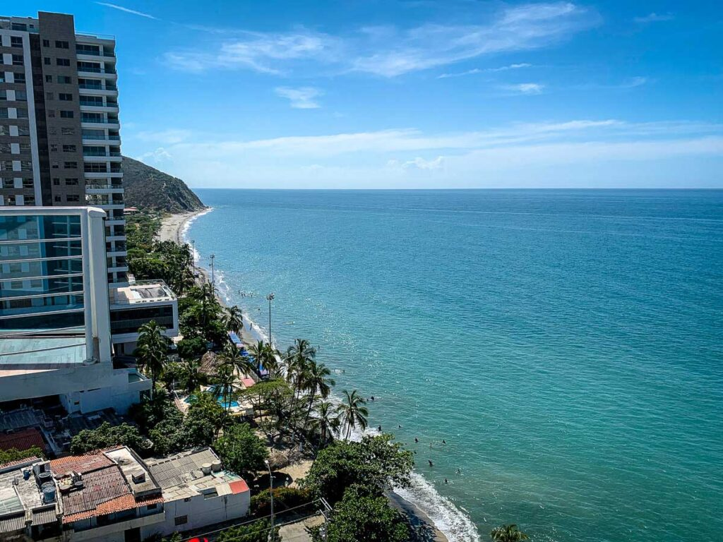 We had great views of Playa Salguero from our Rodadero apartment rental