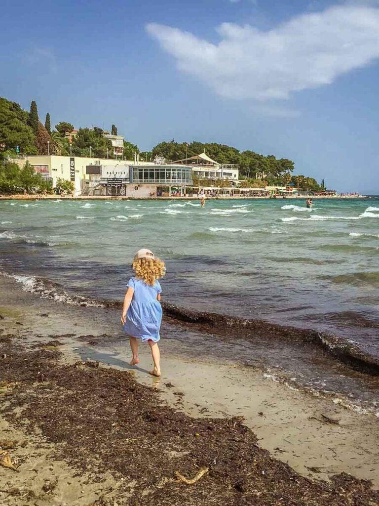 Bacvice Beach in Split Croatia - beaches in split with kids