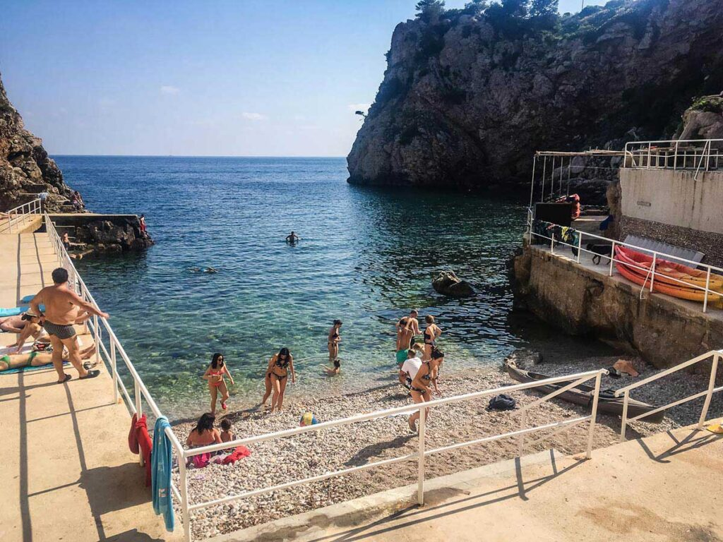 Small beach near Dubrovnik Old Town - things to do in Dubrovnik with children