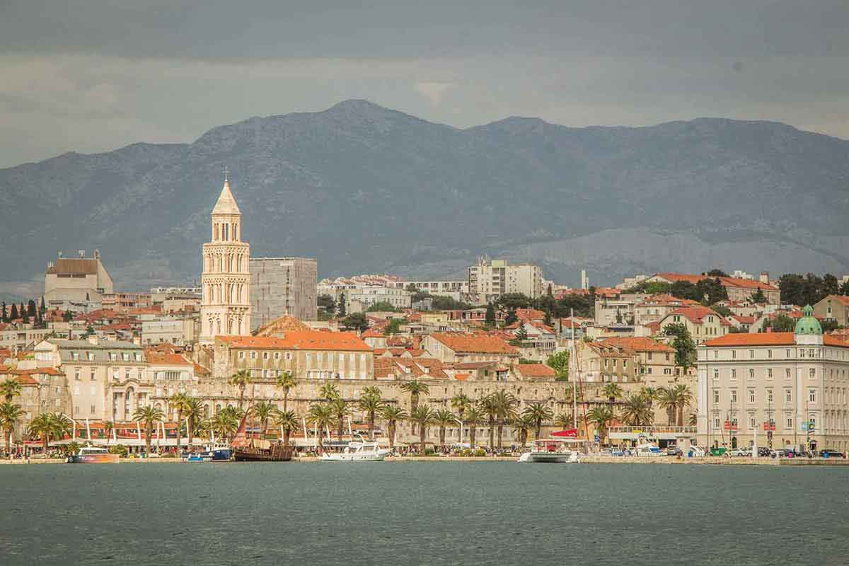 View of Split Croatia