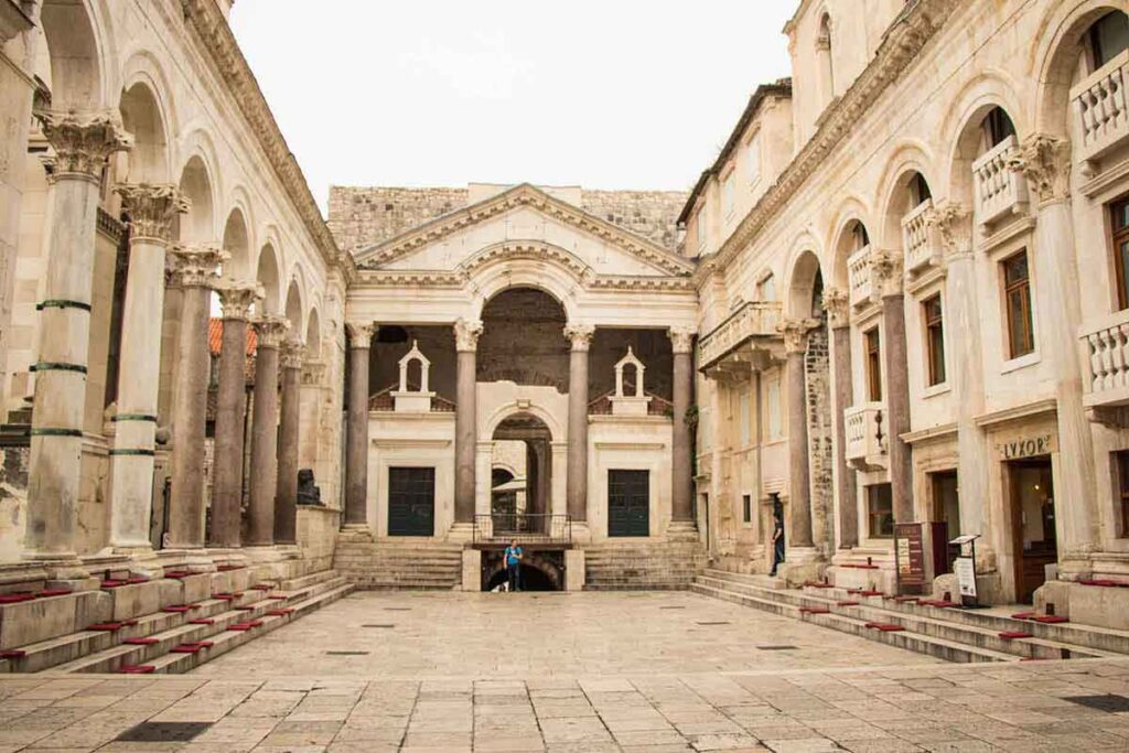 Diocletian's Place in Split Croatia - Things to see in Split with kids