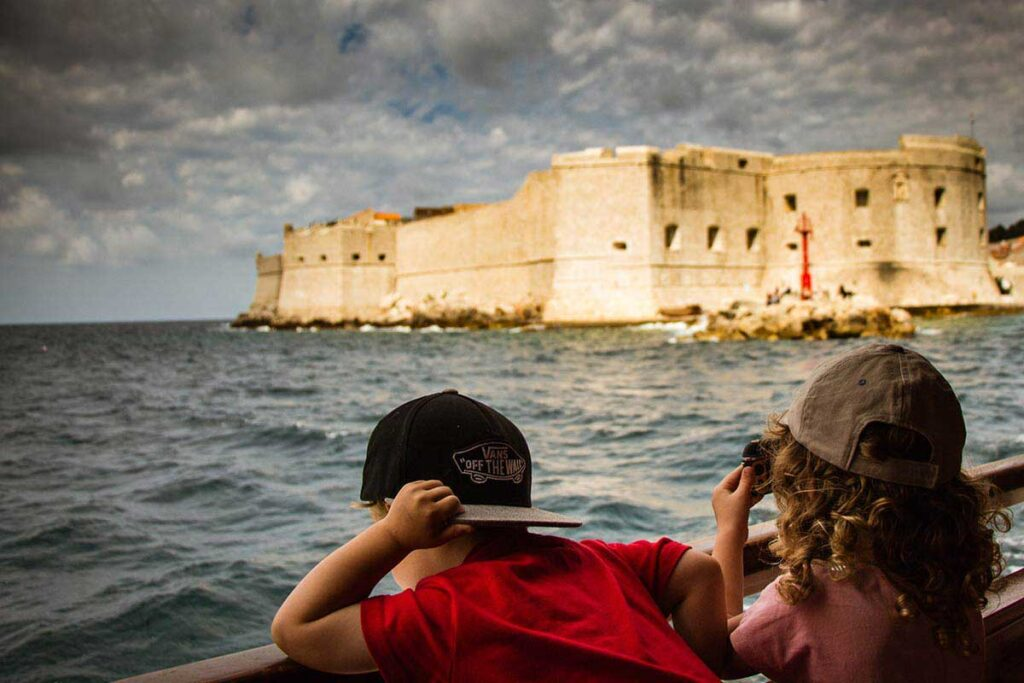 View from Ferry to Lokrum Island - Things to do with Kids in Dubrovnik