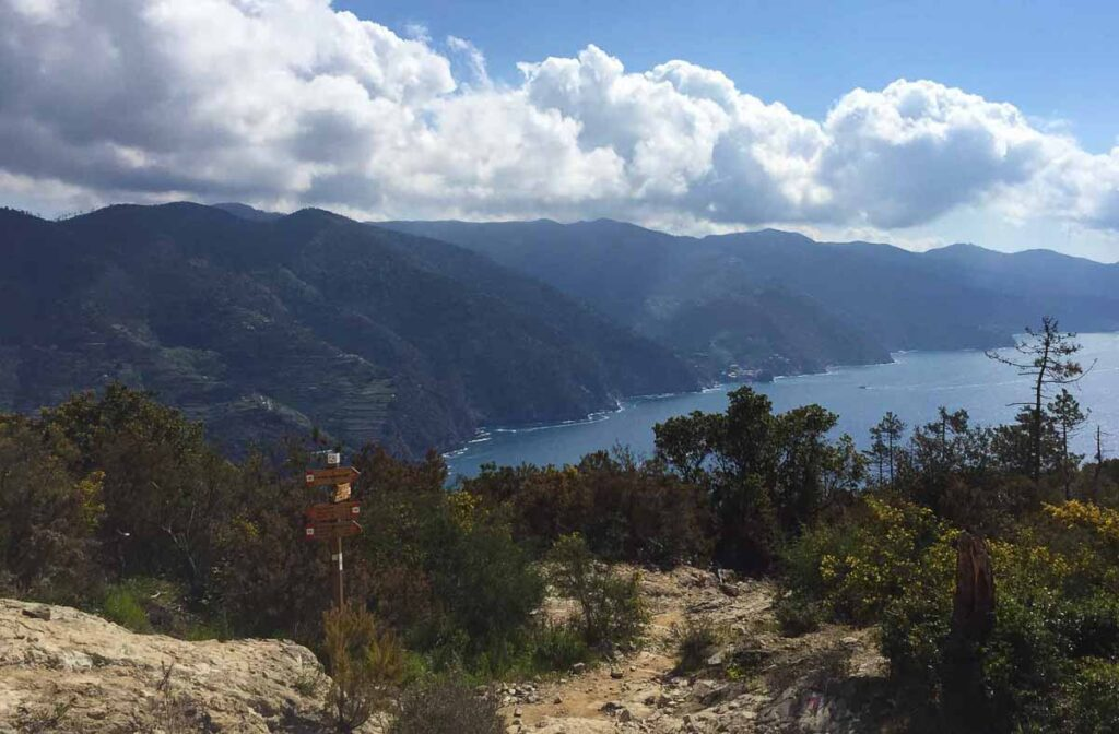 The Levano to Monterosso trail provides excellent views of many of the 5 Cinque Terre cities
