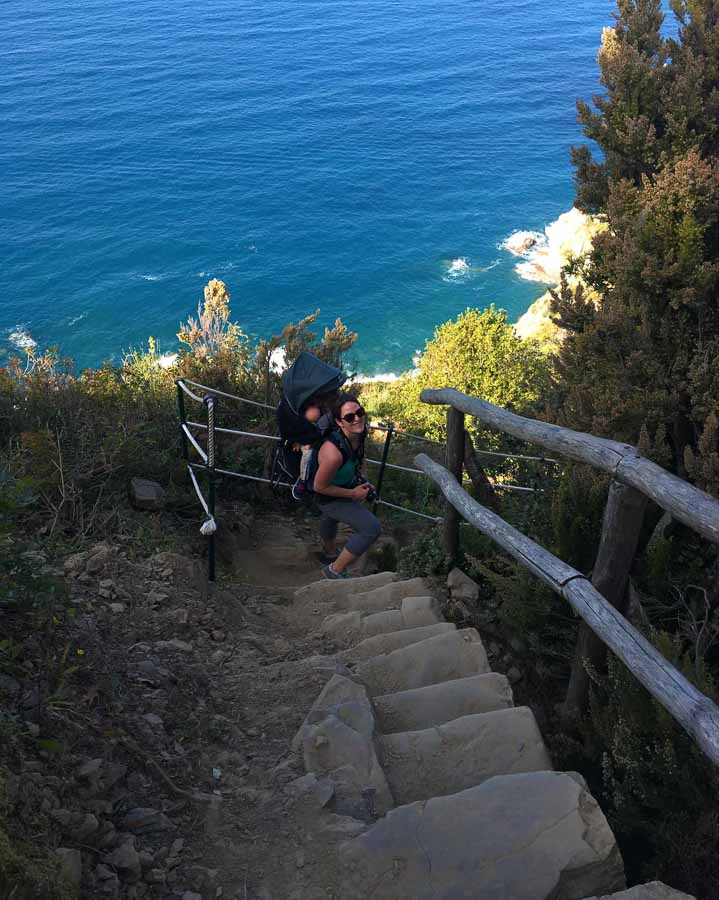 Hiking Cinque Terre with a toddler on the Manarola to Riomaggiore trail