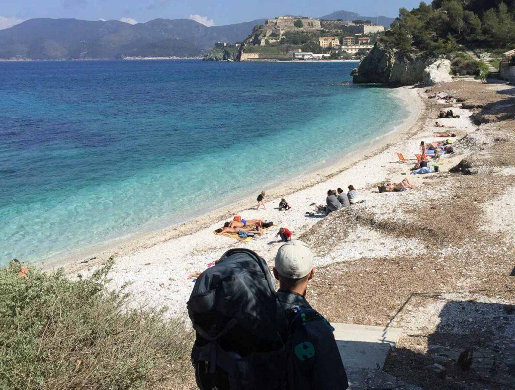 Beautiful water color at this beach near Portoferraio, Elba